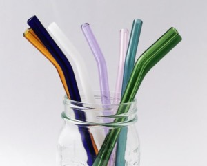 ba77a80b20c Choose Your Color Barely Bent Glass Straws